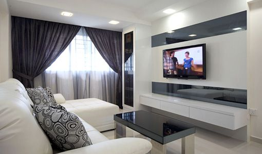 Tips on choosing right hdb renovation contractor for Living room interior design singapore