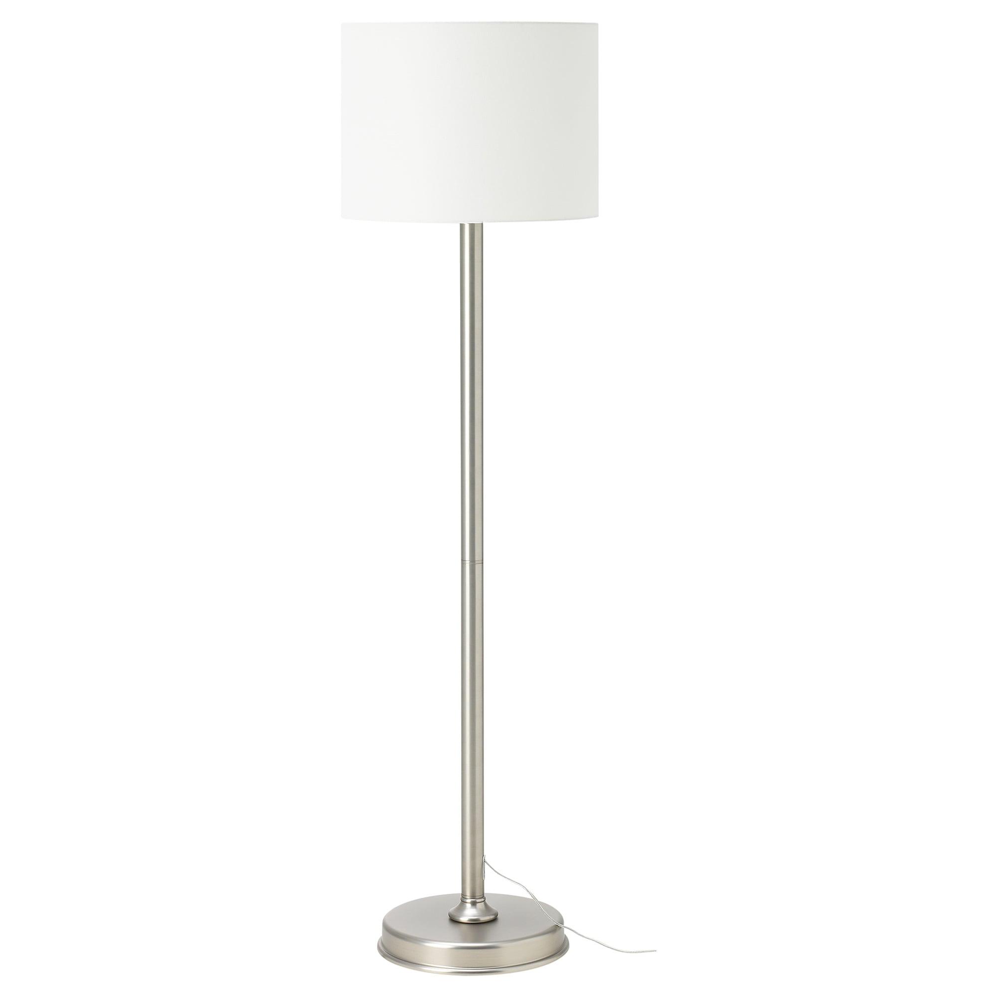 Milleryr Floor Lamp With Led Bulb White Nickel Plated Ikea White Floor Lamp Floor Lamp Tall Lamps Bedroom