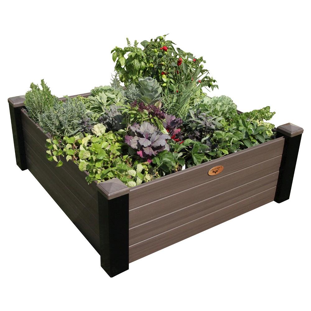 Maintenance Free Raised Garden Bed Walnut Brown Gronomics