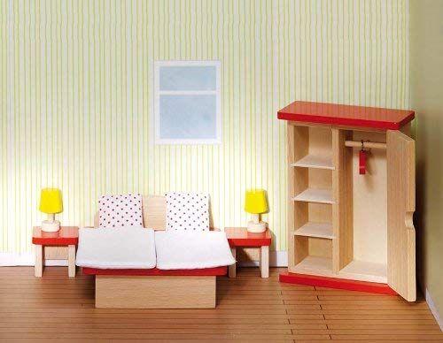 Goki 51715 Puppenmöbel Schlafzimmer Amazon.de