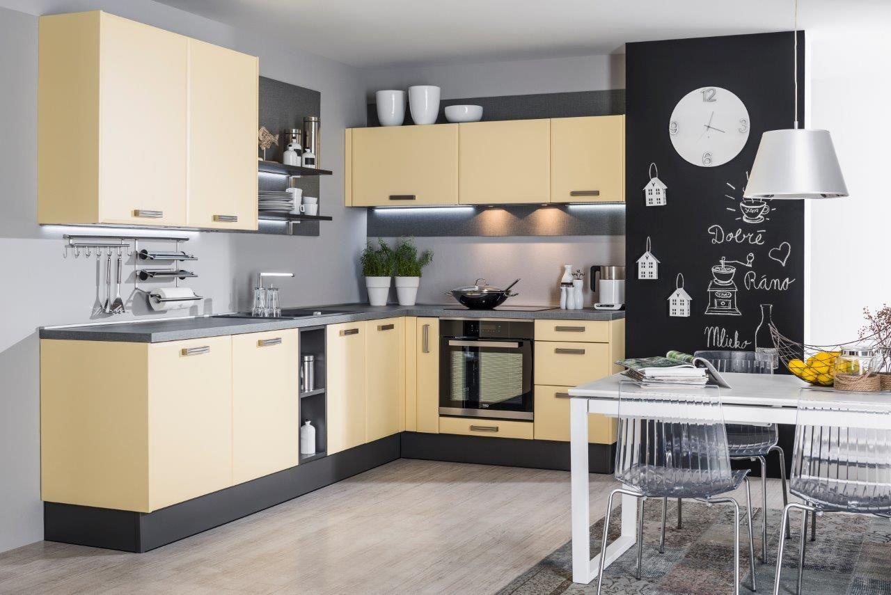 kuchyňa: Carmen vyhotovenie: Grafit / Žltá arctic
