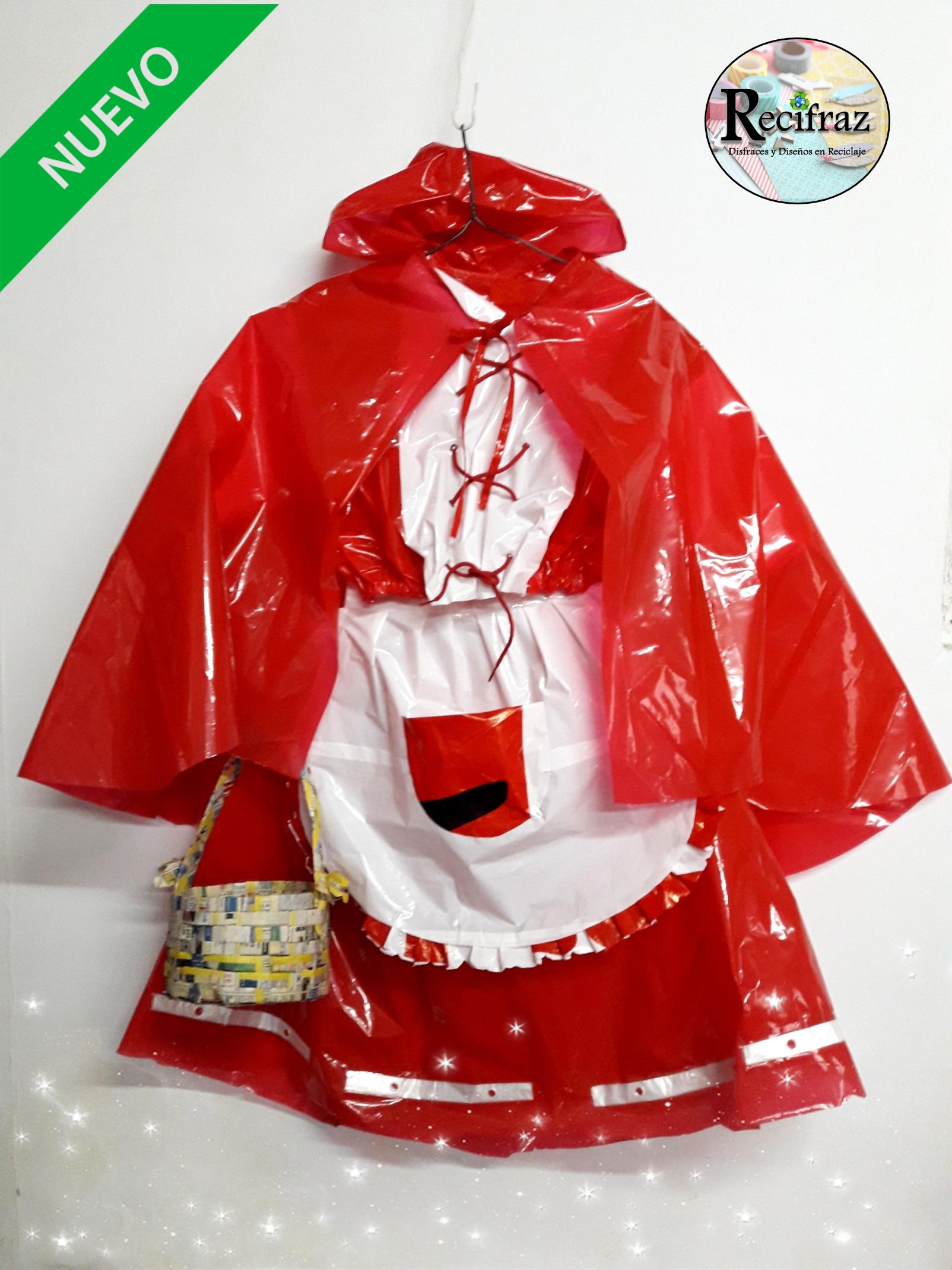 655c5d96ae3c Modelo: CAPERUCITA ROJA Disfraces y Diseños en Reciclaje RECIFRAZ ...