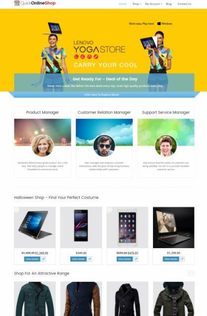 Quick Online Shop Review - InkThemes | WordPress Theme Review Desk ...
