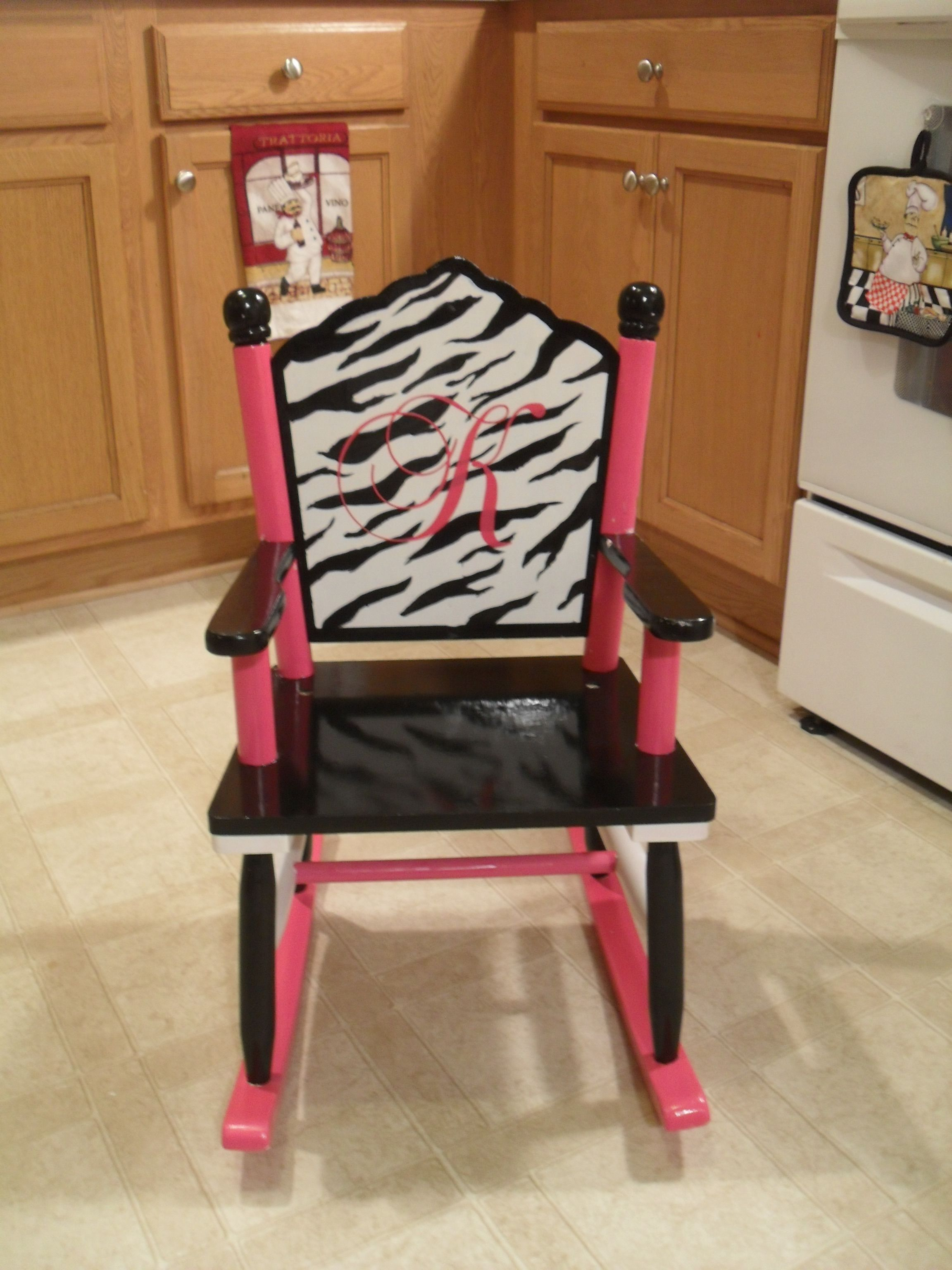 Girls Rocking Chair Little Girls Rocking Chair Zebra And Hot Pink Room