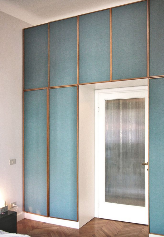 Idea armario pasillo cuarto salon tela en otro color for Armario salon