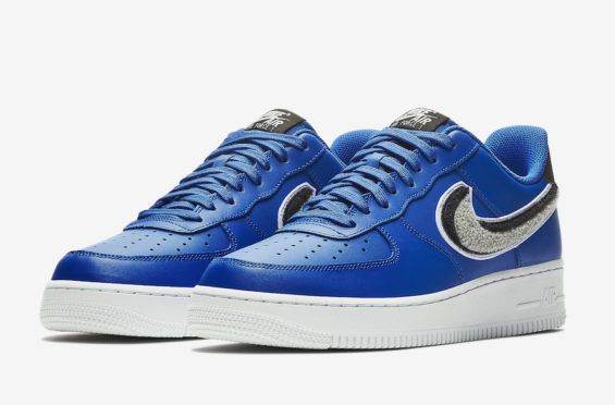This Nike Air Force 1 Low Comes With 3D Chenille Swooshes New Swooshes  alert! Above 2d9247bc3