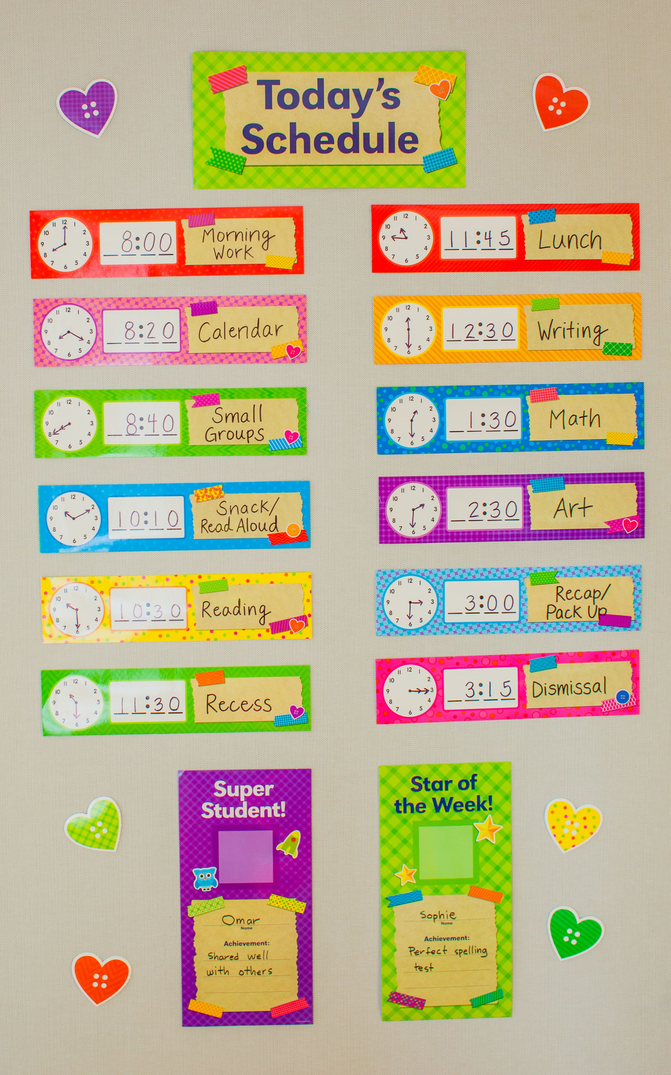Tape It Up Today S Schedule Bulletin Board