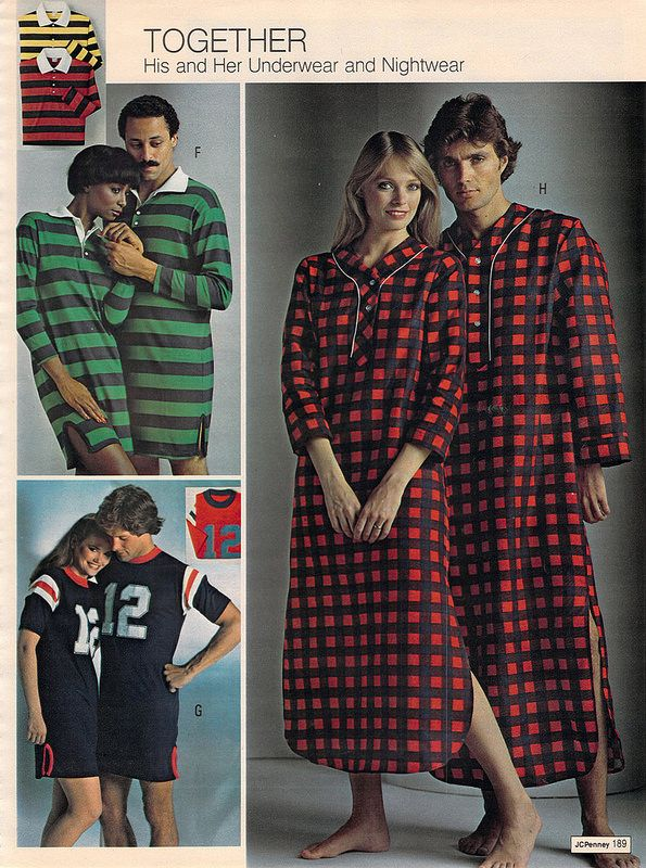 His and Hers Nightshirts from the J.C. Penney Christmas