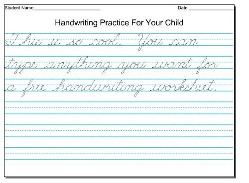 Free Practice Cursive Handwriting Worksheets – Free Handwriting Worksheet Maker
