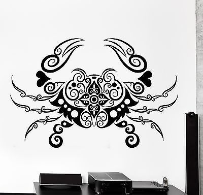 Wall Decal Crab Sea Lake Ornament Tribal Mural Vinyl Decal Z - How to make vinyl wall decals with silhouette cameo
