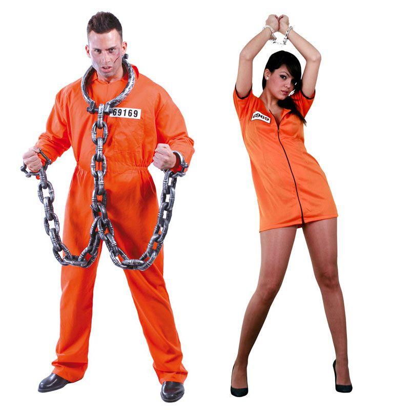 Pareja Disfraces de Convictos #parejas #disfraces #carnaval