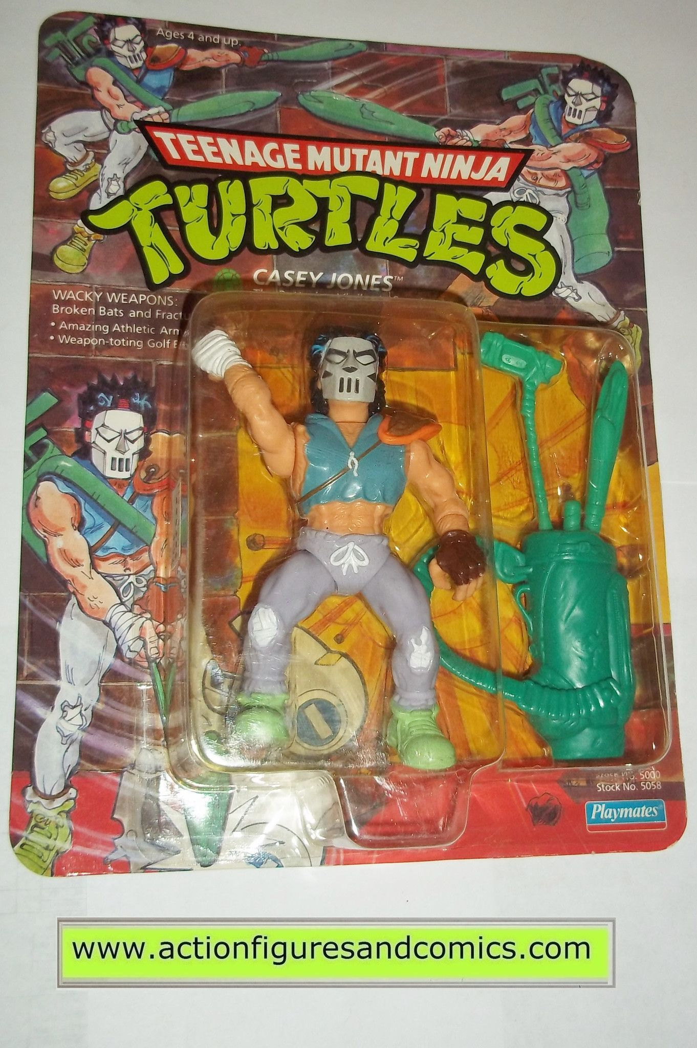 1989 Original *** Casey Jones 1 *** Teenage Mutant Ninja Turtles Tmnt