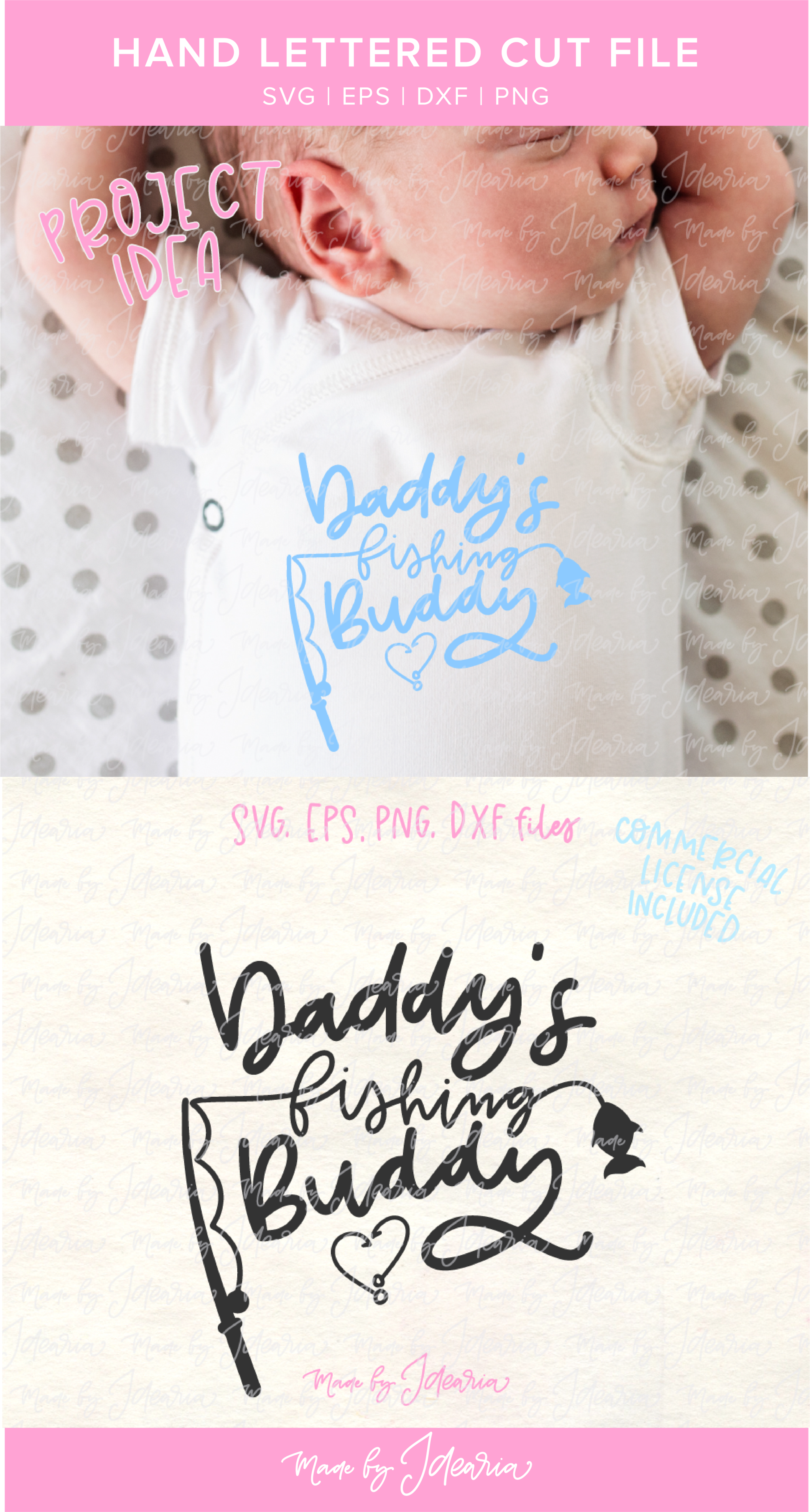 Download Daddy S Fishing Buddy Svg File Featuring A Fishing Pole And A Fish Makes A Cute Design For Father Monogram Fishing Shirt Fishing Shirt Ideas Monogram T Shirts