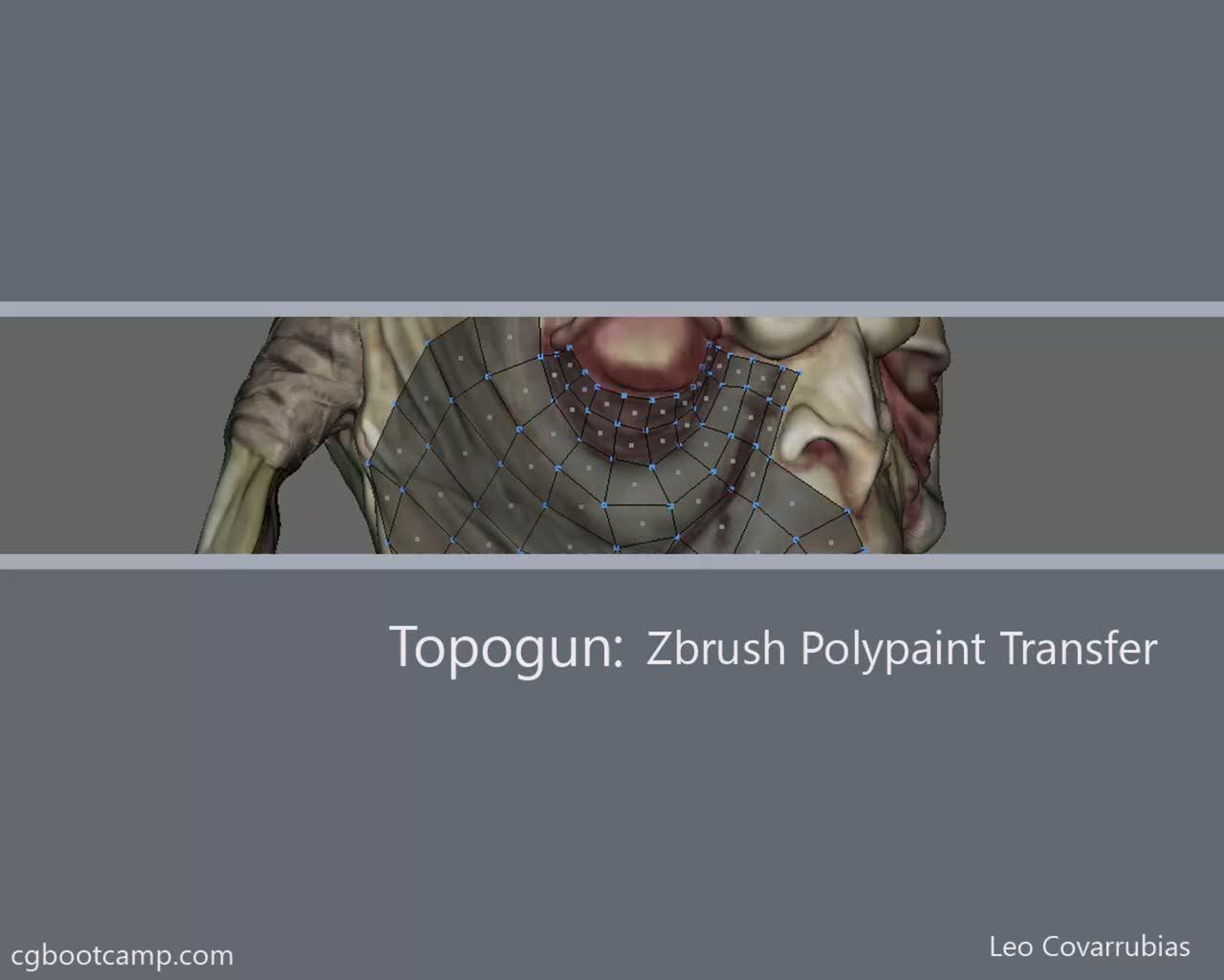 Topogun Zbrush Polypaint Transfer Zbrush Zbrush Tutorial Art Tutorials