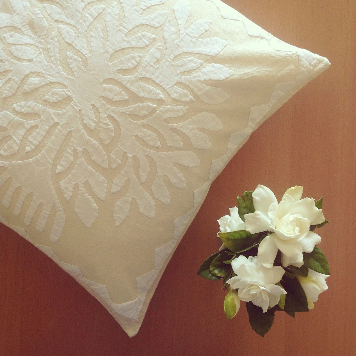 Tree Appliqu Cushion Cover Speaks Simplicity Subtlety And Pure