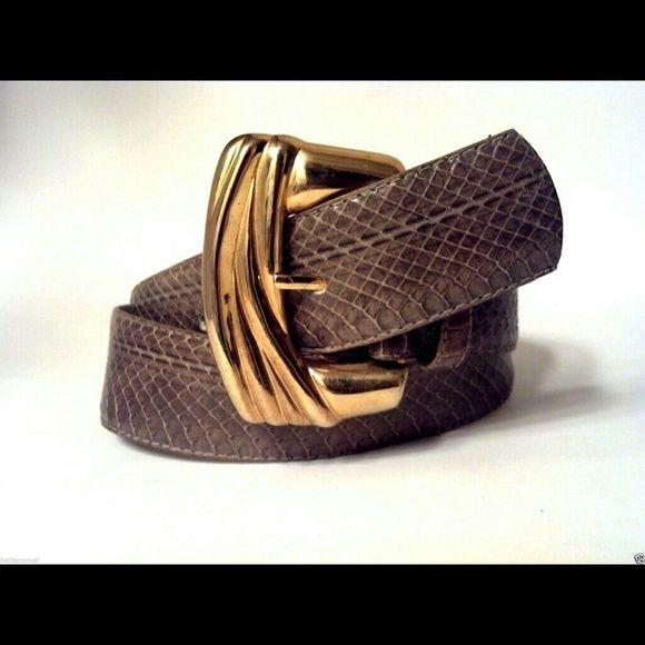 """Vintage Dame Real Snake Skin Belt 'Dame  Belt & Bag' Brand Real Snake Skin Belt  / 34"""" Not Including Buckle Dame Accessories Belts"""