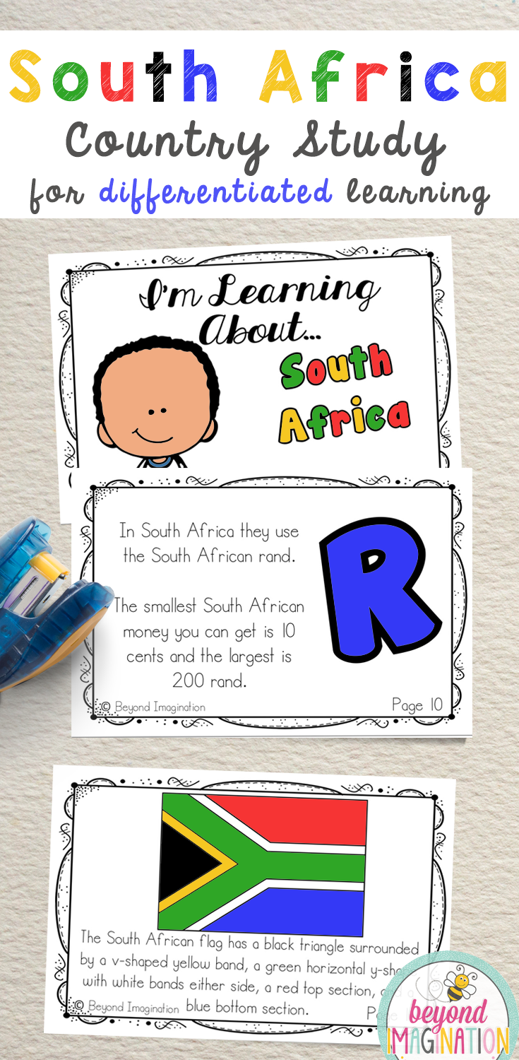 small resolution of South Africa Fun Fact country study booklet is perfect to use for an around  the world unit