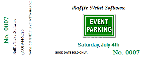 with raffle ticket software you can also make parking passes