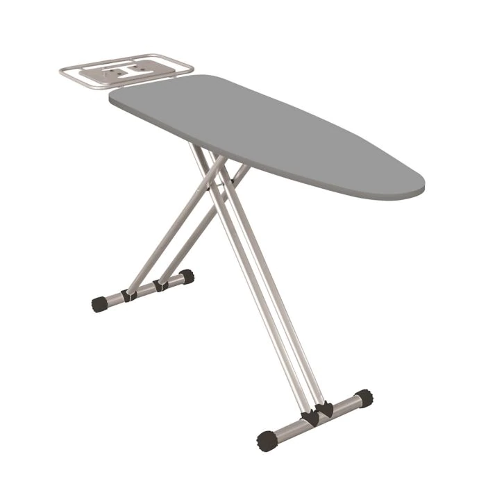 ExtraWide Adjustable Height Ironing Board in Grey Bed