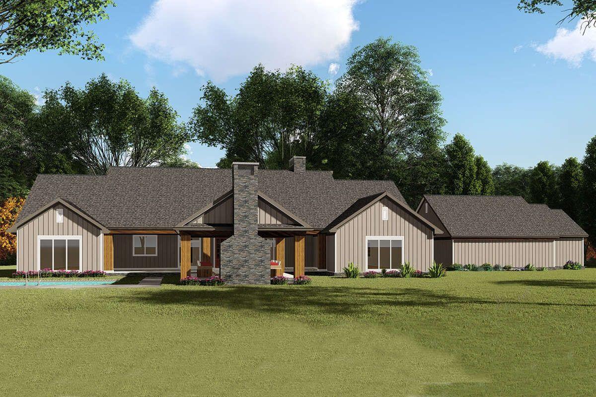 House Plan 8318 00136 Farmhouse Plan 2 191 Square Feet 3 Bedrooms 3 Bathrooms Farmhouse Plans Ranch House House Plans Farmhouse