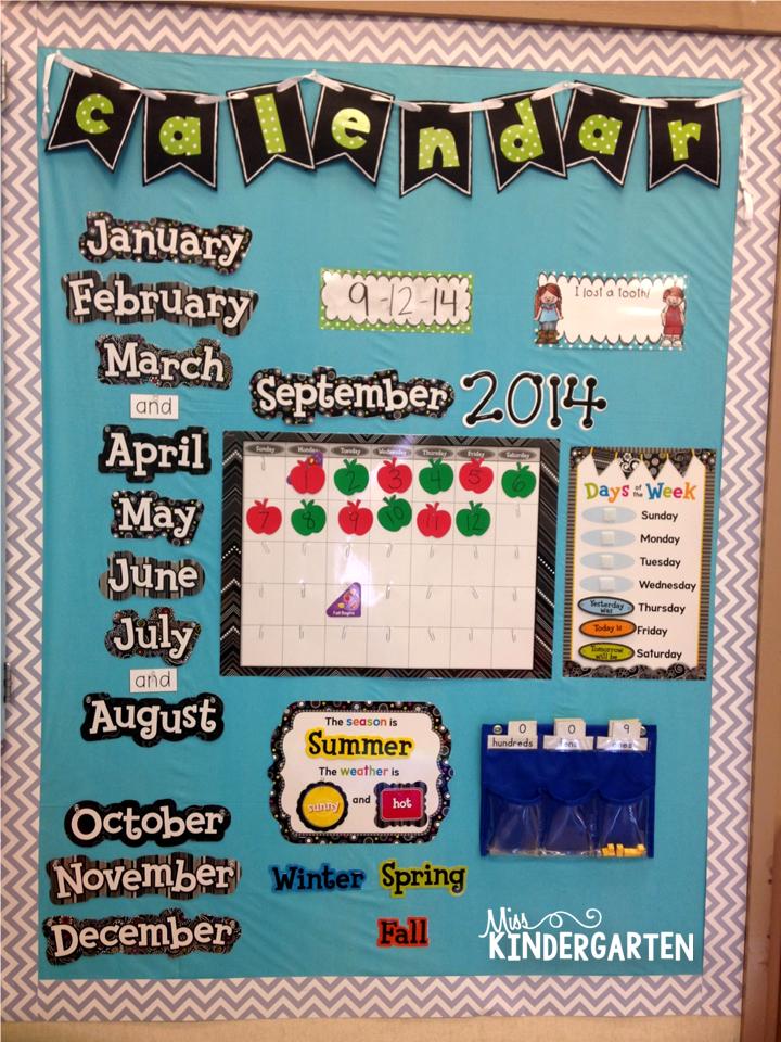 Kindergarten Calendar Flip Chart : Classroom setup kindergarten