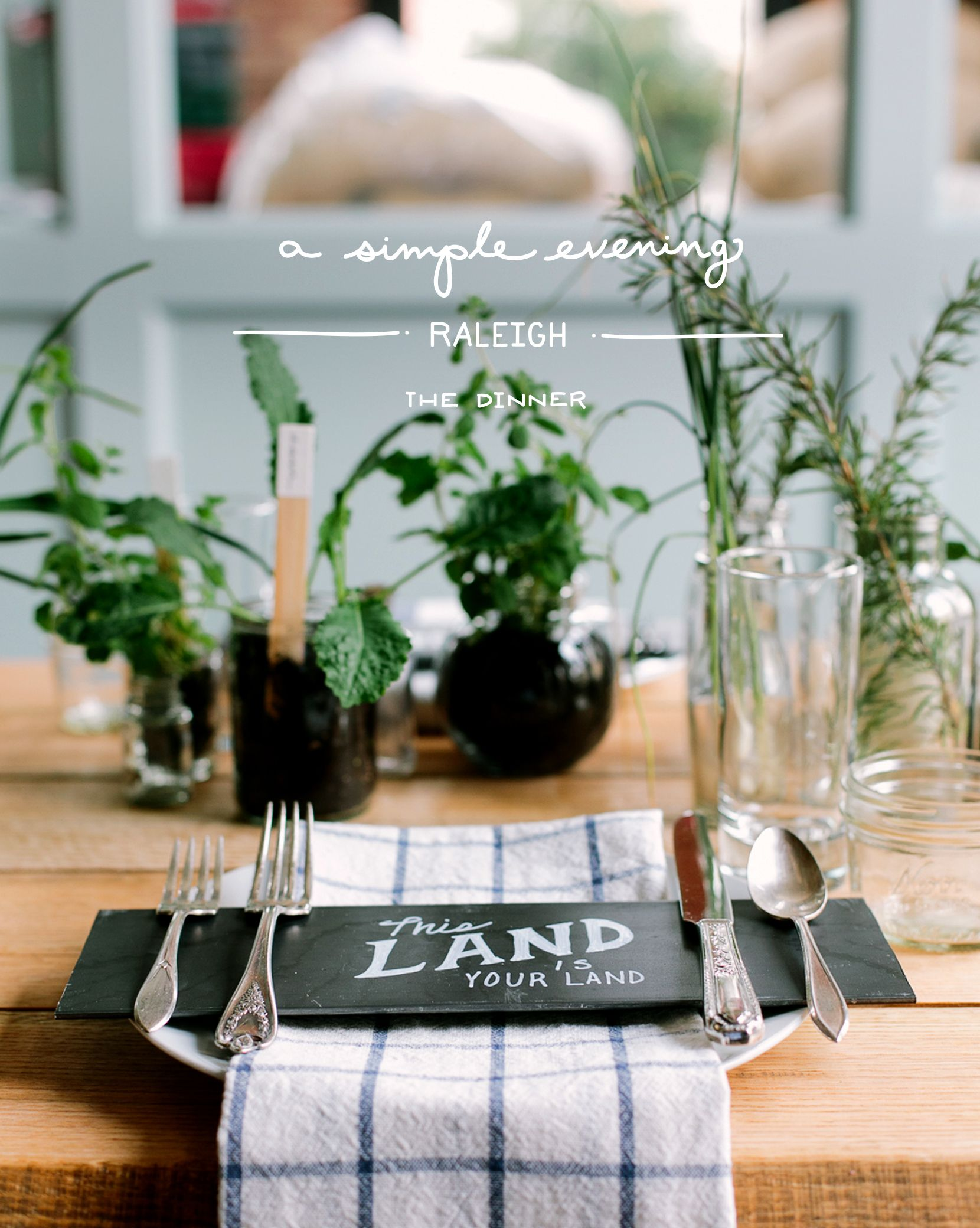 Cool Table Setting And Menu Card This Land Is Your