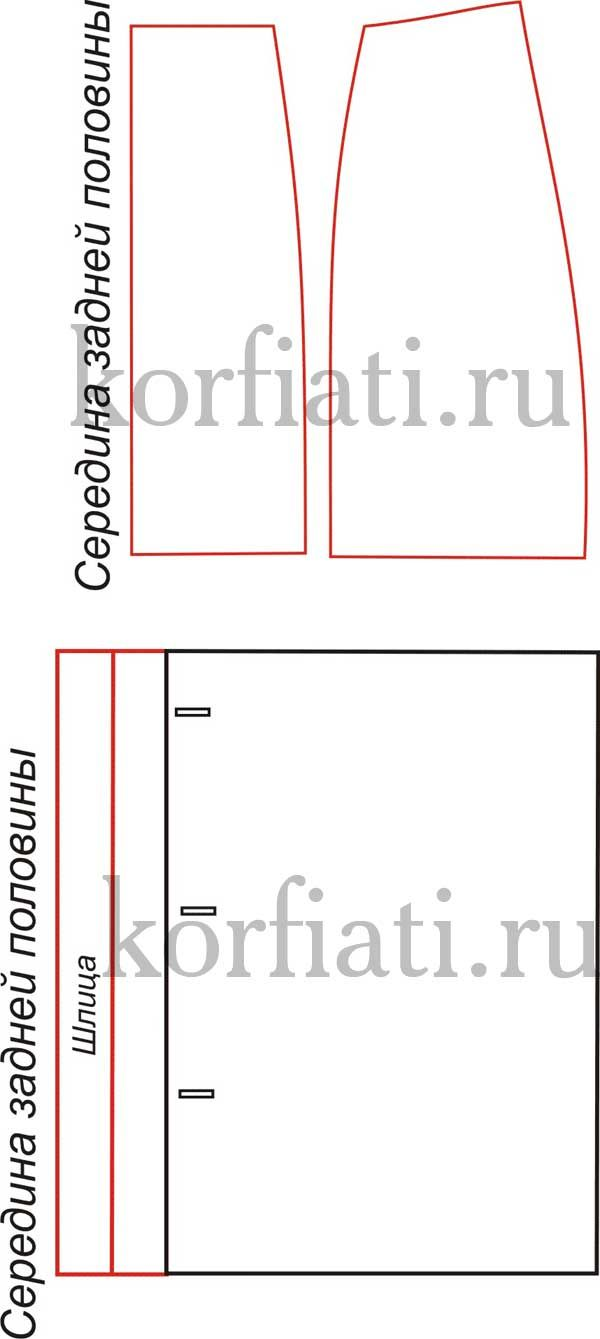 Юбка карандаш выкройка от Анастасии Корфиати