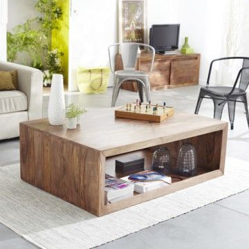 Table basse en palissandre massif 120 x 80 villa par for Table basse palissandre