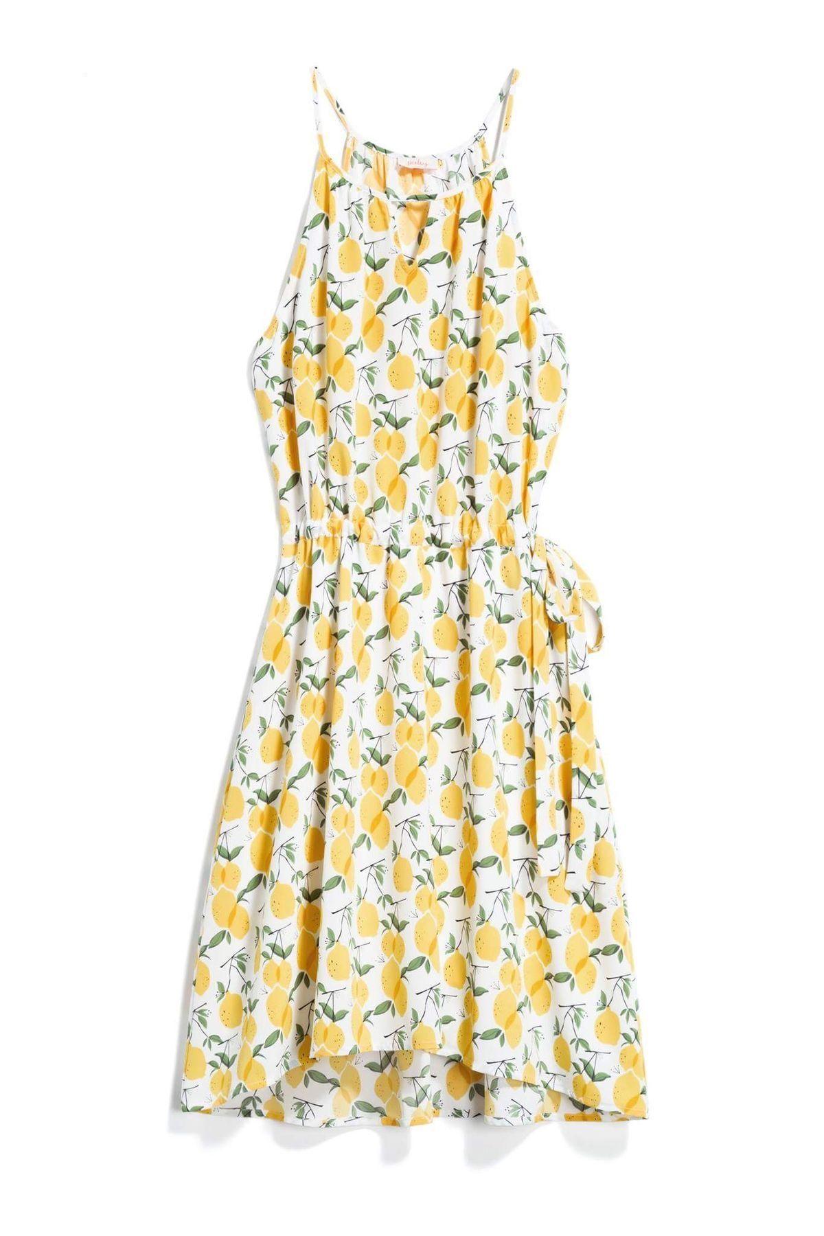 Pixley yellow lemon dress stitch fix style quiz dress in