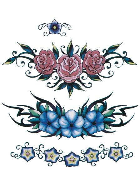 Flower Tattoo Flash Designs. Top quality high resolution color design, with tattoo stencil outline for instant download. Get the body art you deserve. Many other designs. View at http://mickeymud.com/galleries/