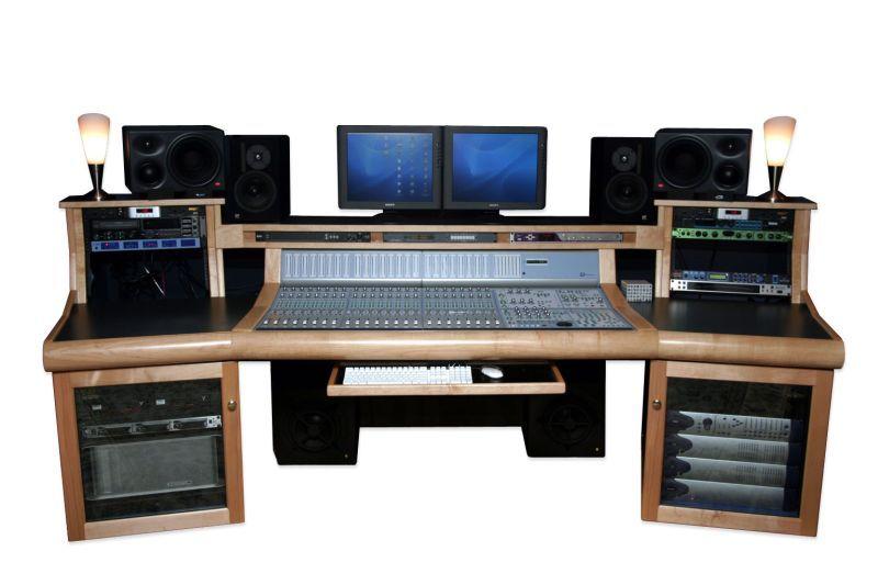 A custom Recording Studio Desk that looks like it has everything I