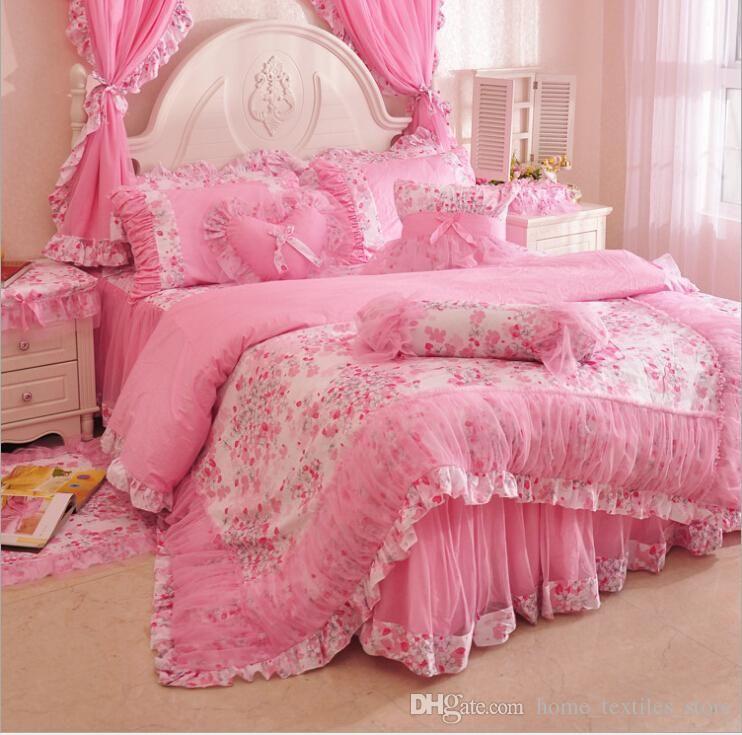 100 Cotton Princess Bed Bedding Sets Girls Bedding Set For Home