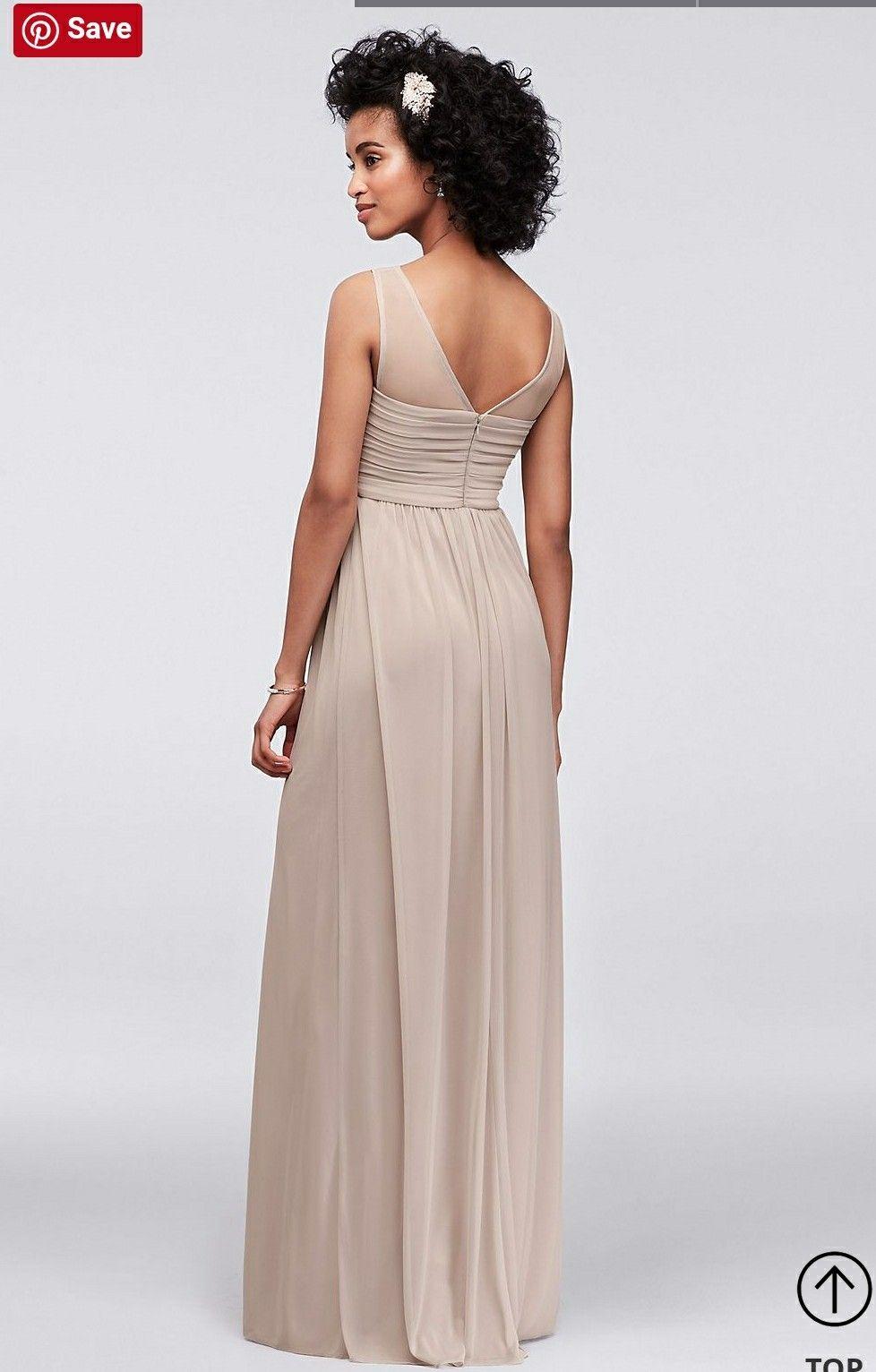 c0ad3d2d050 Back of my dress. Back of my dress Davids Bridal Bridesmaid Dresses ...