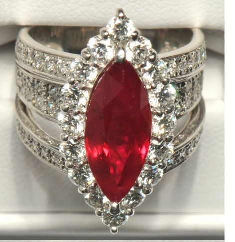 Yes Please! Vintage Ruby Engagement Ring