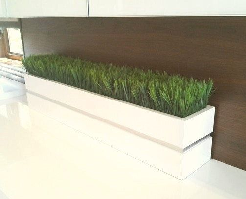 Modern White Lacquer Planter Box Grass Convoy | Mike Projects ...