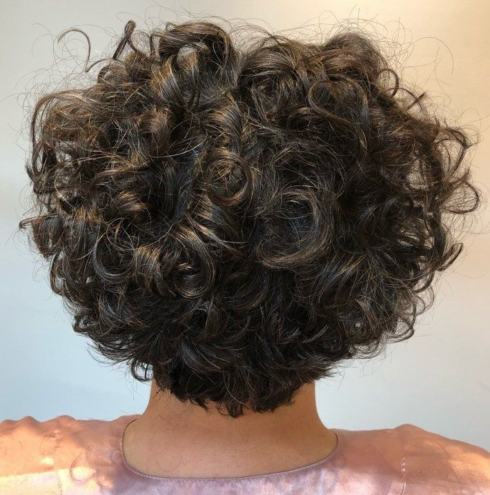 Short Tapered Curly Wigs