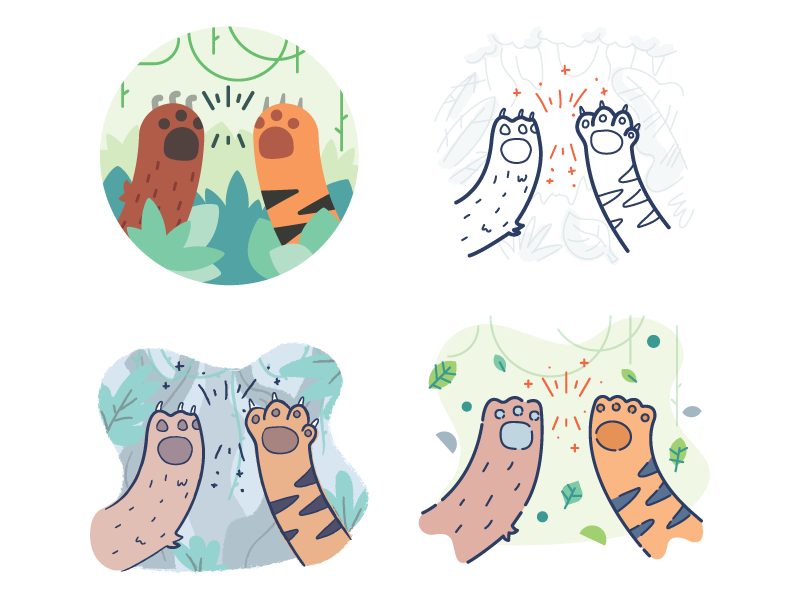 High Five Sticker By Chrixmorix For Ios Android Giphy Free Clip Art Giphy Clip Art