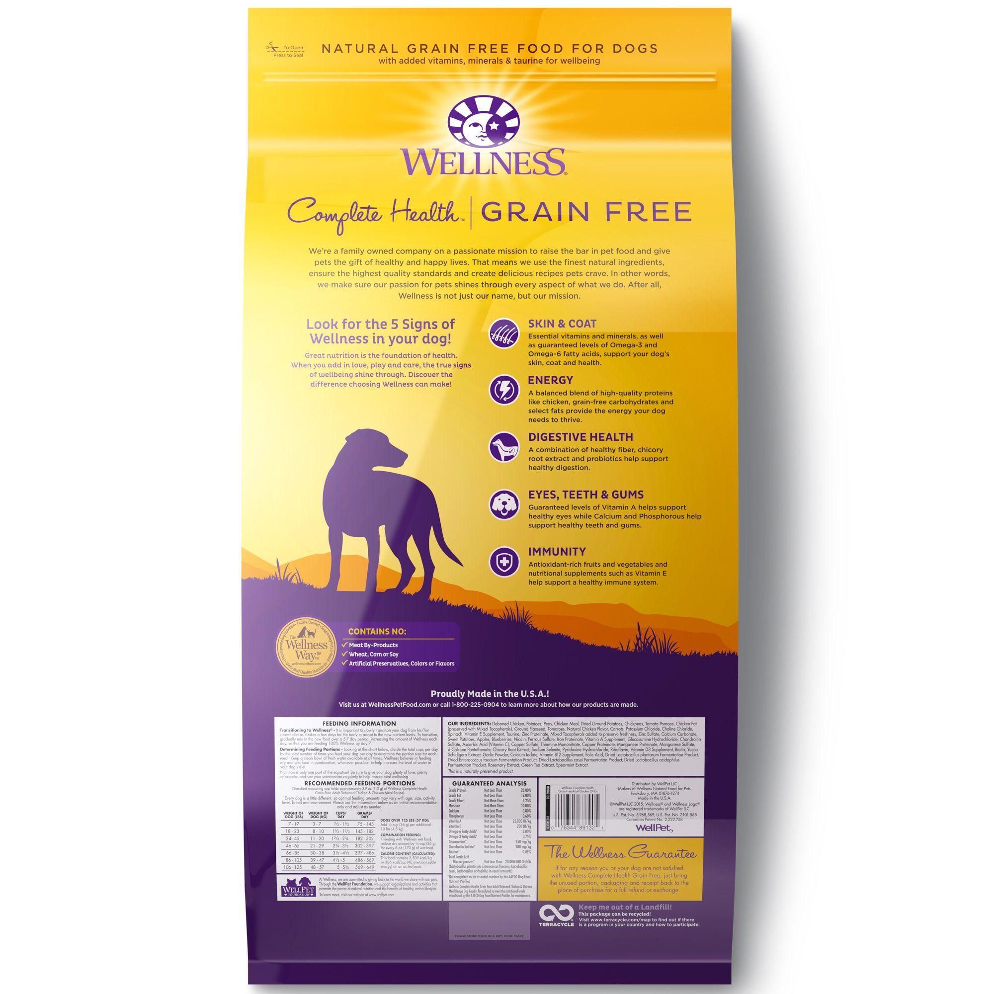 Wellness Complete Health Natural Grain Free Adult Deboned Chicken