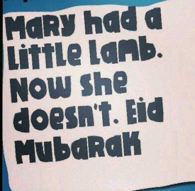 Eid Ul Adha Mubarak Eid Mary Had A Little Lamb Minimalist Quotes Eid Mubarak Eid Ul Adha
