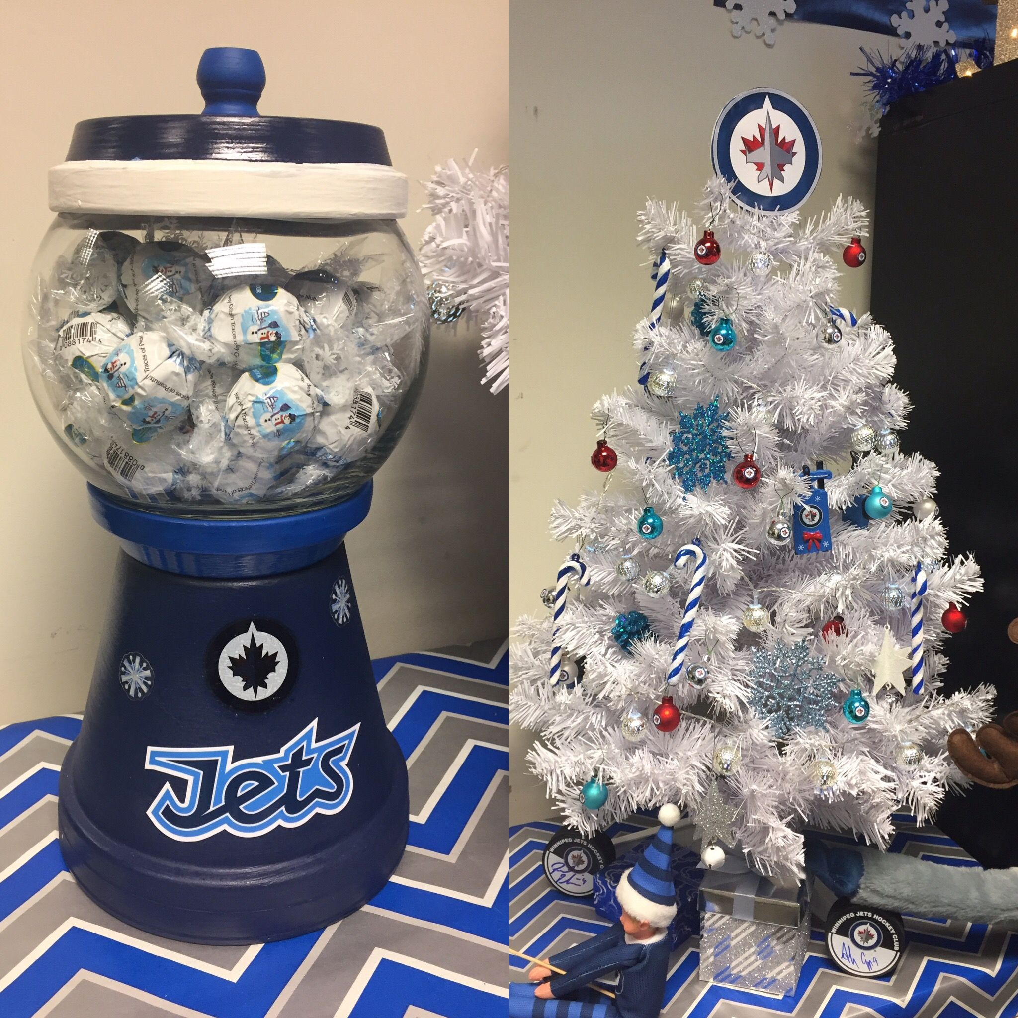 Winnipeg Jet Christmas Tree by Suzy Q