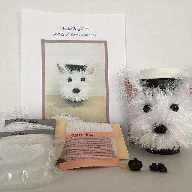 Westie Mug Cozy Kit - hookedbyangel.etsy.com | Crochet Dog Pattern ...