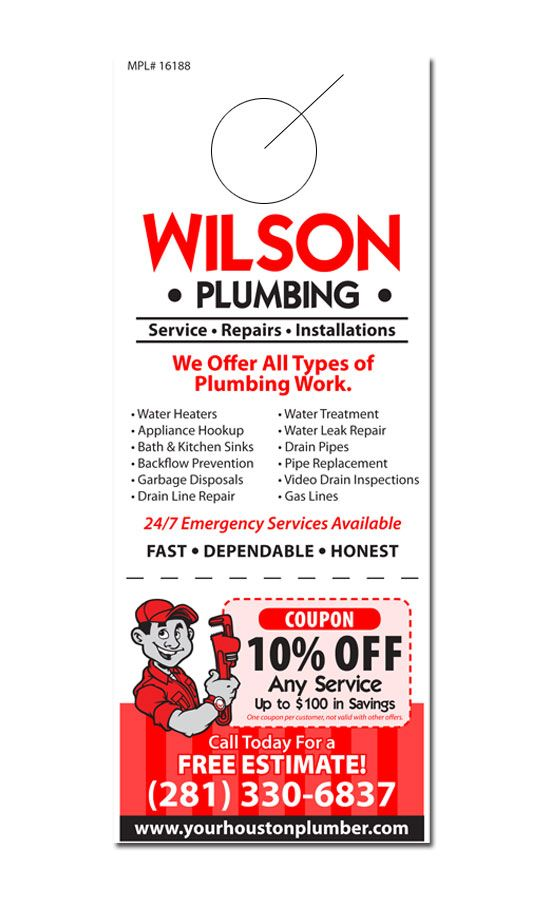 Plumbing Door Hanger Samples | Business Marketing Ideas