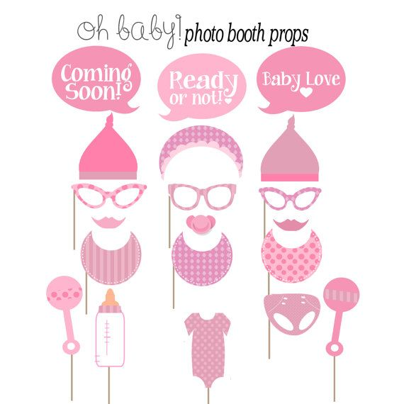 props photo booths baby shower photos its a girl baby shower shower