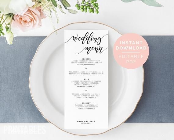 Editable Menu Template | Printable Wedding Menu | Editable Wedding Menu Template | DIY Menu | Party #weddingmenutemplate Editable Menu Template | Printable Wedding Menu | Editable Wedding Menu Template | DIY Menu | Party #weddingmenutemplate
