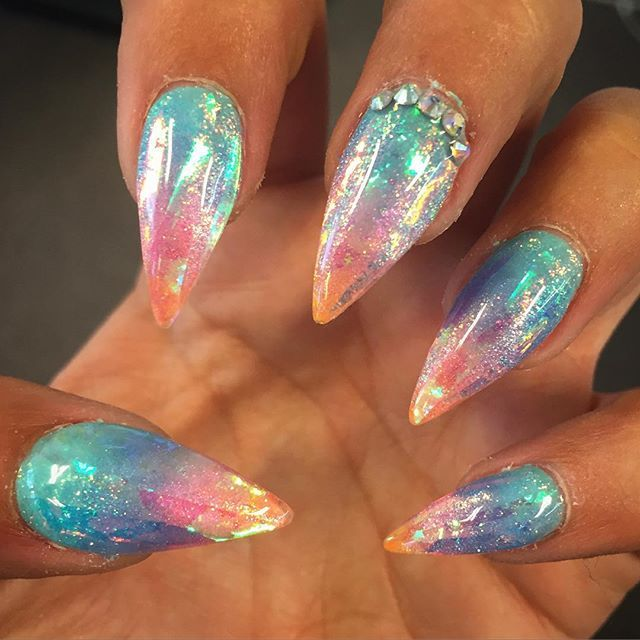 Pin for Later: 30 Mermaid Nail Art Ideas That Even Ariel Would Envy - 30 Mermaid Nail Art Ideas That Even Ariel Would Envy Beauty
