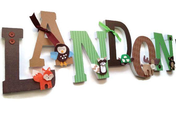 Wooden Nursery Wall Letters