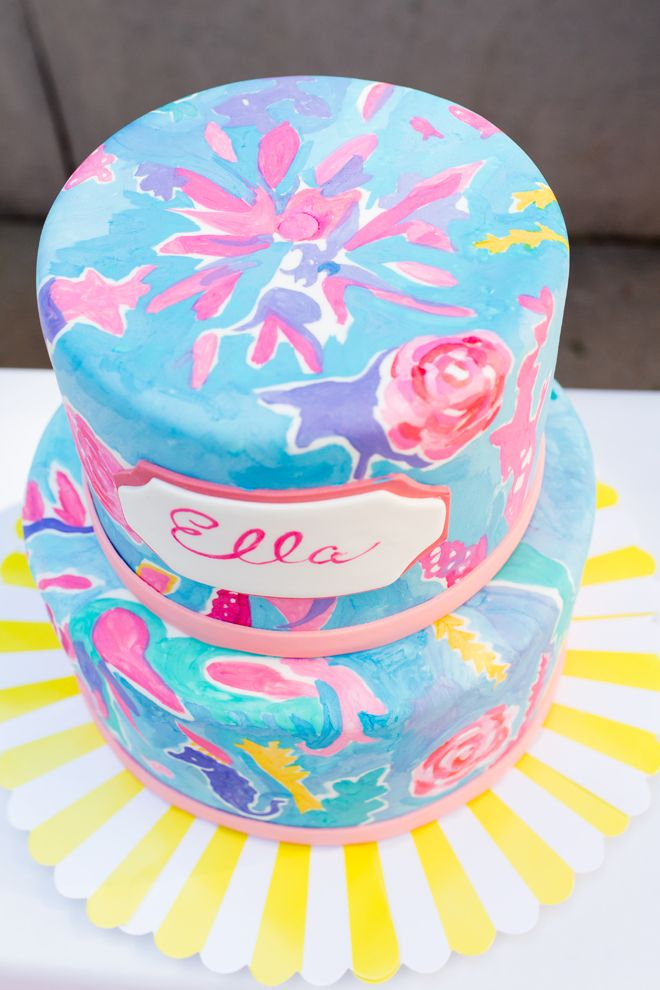 Adorable Lilly Pulitzer Inspired Party Cake Birthdays and
