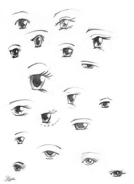aprendera dibujar ojos anime y manga 1 | Dibujos | Pinterest | Ojos ...