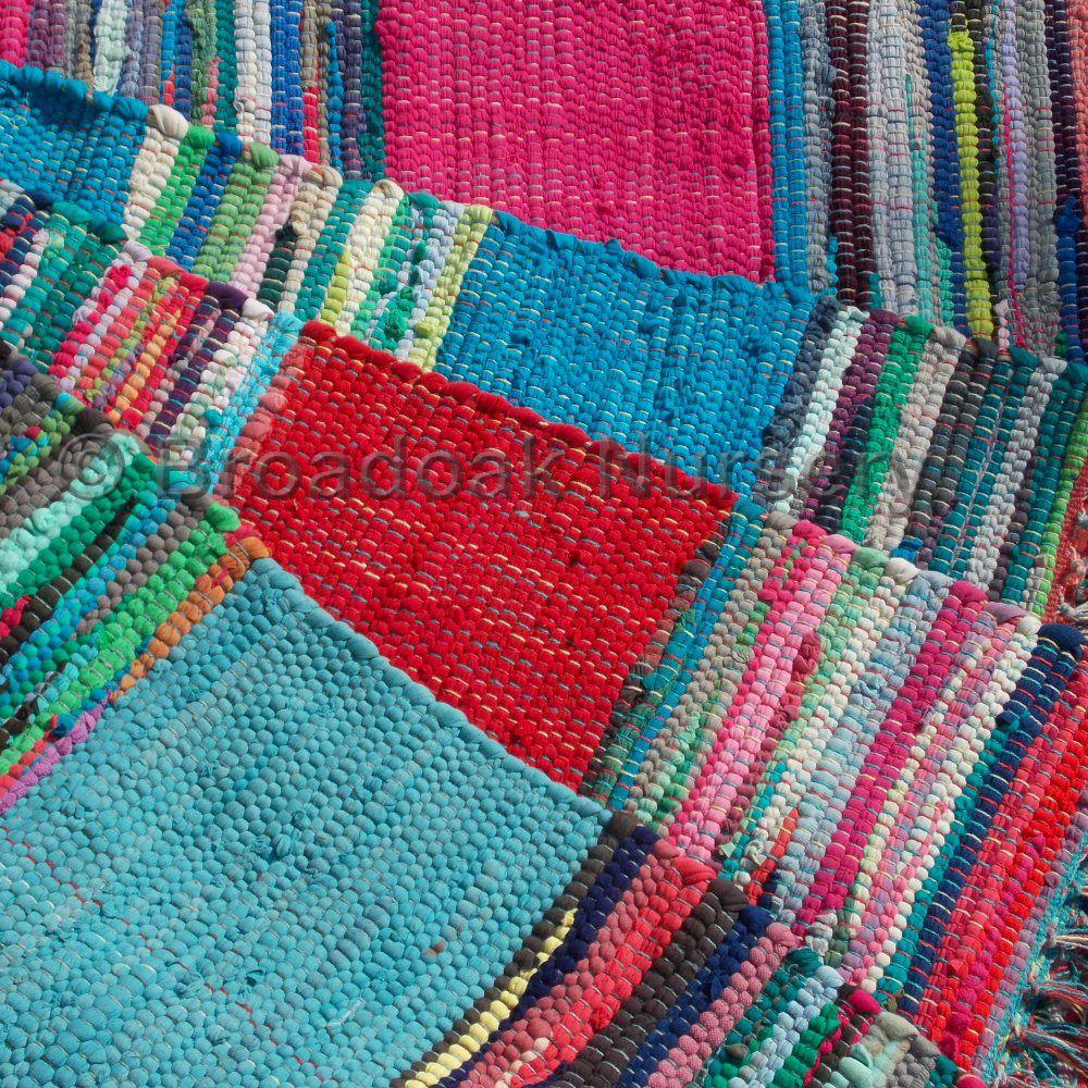 Fair Trade Mexican Style Indian Rag Rug 90 X 150cm 3 5