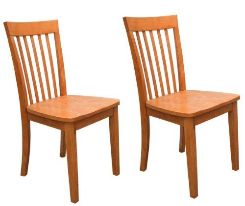 Set of 2 Heavy Duty Solid Wood Maple Finish Dining Room - Kitchen Side Chairs 2K Furniture Designs http://www.amazon.com/dp/B003H1T9FQ/ref=cm_sw_r_pi_dp_1ybzub12H8PJ3